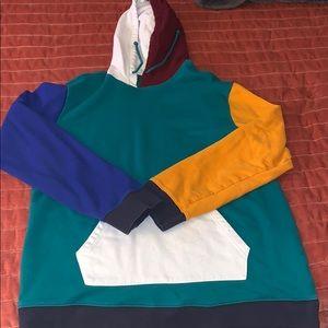 Men's Pacsun colorblock hoodie